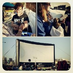 Little fur babies here wIth #nkla for the #drivein tonite! Learn more about adopting your next pet. #outdoormovies #foodtrucks #livemusic