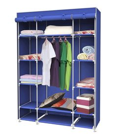 Look at this Blue Storage Closet on #zulily today!