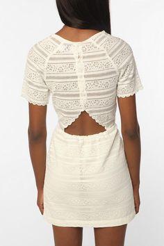 Dolce Vita Saurus Scallop Lace Dress  #UrbanOutfitters