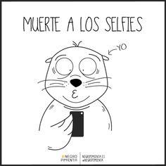 Odio los selfies. Ale, ya lo he dicho. #negropimienta #tiendaonline #ilustracion #diseño #vector #minimalista #negro #black #illustration #design #seal #foca #animal #selfie #ugly #feo