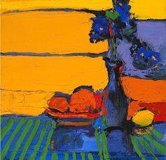 Henrietta Berk (American 1919-1993) Irises and Oranges