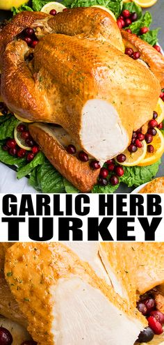 HOW TO MAKE THANKSGIVING TURKEY RECIPE- Easy homemade with simple ingredients in one pan It s the perfect best moist juicy roasted turkey in oven with lots of garlic herbs butter No brining No marinades No basting From Turkey Baste Recipe, Oven Turkey Recipes, Turkey In Oven, Oven Roasted Turkey, Baked Turkey, Cooking Turkey, Best Oven Turkey Recipe, How To Brine Turkey, One Pot Meals