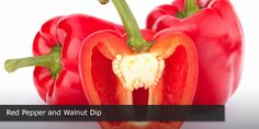 Red Pepper and Walnut Dip - Try this dip as an alternative to heavy cream-based dips! The only fat is healthy unsaturated fat from walnuts.