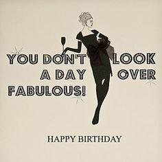 A fabulous birthday wish