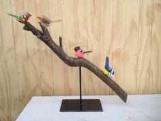 Dekoration småfugle på gren, kunsthåndværk efter ønske, se mere på https://www.facebook.com/groups/art.visten/?fref=ts# Løkken, Lønstrup, kunst, galleri, Tornby, strand, Hirtshals, unik design