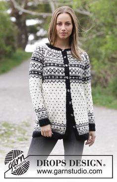 Women - Free knitting patterns and crochet patterns by DROPS Design Drops Design, Knitting Patterns Free, Knit Patterns, Free Knitting, Drops Karisma, Cardigan Design, Fair Isle Pattern, How To Purl Knit, Raglan