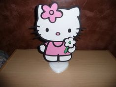 Hello Kitty Centerpiece (Single Sided) Hello Kitty Centerpieces, Hello Kitty Baby Shower, Trending Outfits, Unique Jewelry, Handmade Gifts, Character, Vintage, Etsy, Art