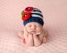 Raya Marina de Bree con flores tejer sombrero del bebé
