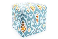 Ikat outdoor pouf - just awesome~