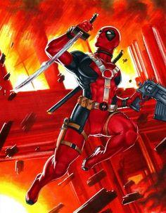 #Deadpool #Fan #Art. (Deadpool) By: Rhiannon Owens. ÅWESOMENESS!!!™ ÅÅÅ+