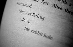 she was falling down the rabbit hole!!