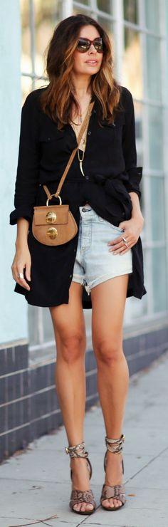 Shirtdress And Shorts