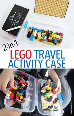 Make an easy DIY LEGO travel activity case for your next road trip! This LEGO travel kit does double duty as a portable drawing kit too. It's the perfect road trip activity for kids and makes a great quiet time activity too. Or a fun LEGO gift idea! LEGO