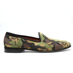 Camo Perforated Suede Slipper