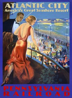 Pennsylvania RR Atlantic City Boardwalk Fine Art Giclee Print