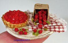Glazed raspberry flan....