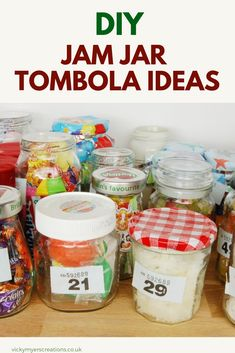 Jam jar tombolas are a great way to fundraise, twenty ideas to fill your jam jars for the tombola. Ways To Fundraise, Fundraising Crafts, Craft Cupboard, Craft Kits, Craft Ideas, Craft Sale, Felt Food, Jar Gifts, Recycled Crafts
