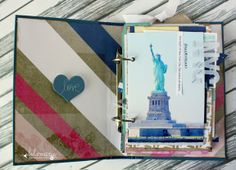 Staple clear letters to the side of your photo. Altered book on the Heidi Swapp blog. #heidiswapp #heidiswapphellotoday