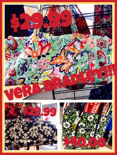 Vera Bradley - Ladies we have Vera Bradley duffle bags for only $29.99 a bag and a beautiful tote for only $40.00!!!