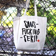 Sans-Serif Tote now featured on Fab.
