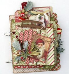 Shop our unique selection of scrapbook mini albums, scrapbook layouts, handmade cards, paper and wood decor craft kits. Precut and easy to assemble scrapbooking kits. Visit our gallery for the latest scrapbooking layout and mini album ideas. Christmas Mini Albums, Christmas Journal, Christmas Scrapbook, Christmas Minis, Christmas Cards, Xmas, Scrapbook Cover, Mini Scrapbook Albums, Round Robin