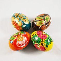 Ukraine wooden easter eggs set Petrikovka pysanky, Gift for Easter, Hand painted folk art eggs Hand Painted Ornaments, Chicken Eggs, Egg Decorating, Easter Gift, Easter Eggs, Ukraine, Creative, Painting Eggs, Size 2