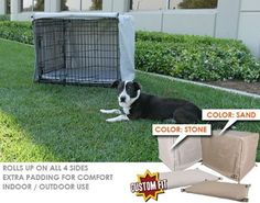 Crate Cover and Pad Set for Petmate Pet Home Deluxe Edition Wire Kennel Depth: 25', Color: Stone -- Check this awesome image  : Dog kennels