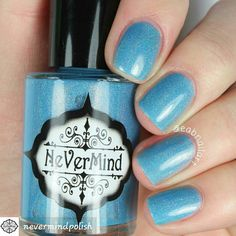 FROZEN MOON by #nevermindpolish #indienailpolish #polish #nailpolish #indiepolish #swatches #PolishSwatches #swatchedpolish #swatchers #nailsandpolish #polishednails #prettynailpolish #polishpics #polishbottles #bluepolish #skyblue#lighybluepolish #polishaholics #nailsgalore #nailpics #nailpictures #nails