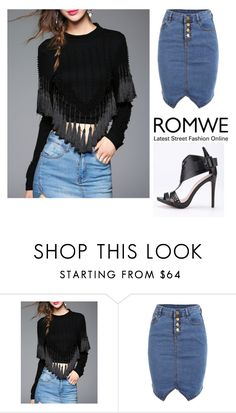 """9# Romwe"" by almamehmedovic-79 ❤ liked on Polyvore"