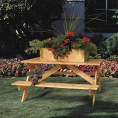 I want to do something like this with the old picnic table already there