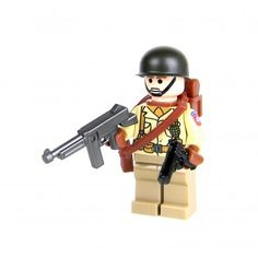 Army Airborne Paratrooper Minifigure- Airborne Paratrooper With premium direct printed torso and sticker unit insignia Great for action packed play! It includes: - WWII Army Soldier (with durable direct printed genuine LEGO® to Lego Soldiers, Lego Ww2, Lego Army, Lego Custom Minifigures, Lego Minifigs, Lego Zombies, Lego Guns, Lego Craft, Lego People