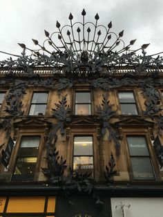 Elaborate Peacock on shop in Glasgow