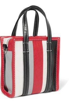 c57f4635cc369 Balenciaga - Bazar XXS striped textured-leather tote