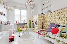 Dotty wallpaper from Danish Design House Ferm Living Ferm Living Wallpaper, Of Wallpaper, Baby Decor, Kids Decor, Home And Deco, Kid Spaces, Zebras, Boy Room, Child Room