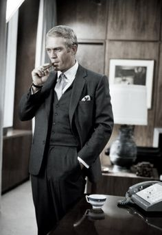 Dress like you own it! Steve McQueen in 'The Thomas Crown Affair', 1968.
