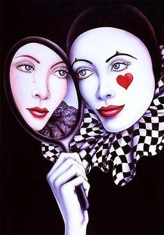 Imagens para Decoupagem: Pierrot e Colombina