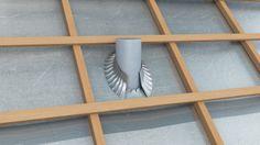 Illustration 3D pour un visuel technique d'isolation de toiture