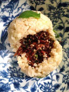 easy brown rice balls - vegan