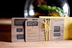 Walnut Wood Letterpress by Studio Olivine