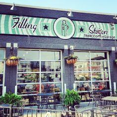 A little bit of Portland in this Midwest City, The Filling Station is an urban coffee shop/lunch stop near Hospital Hill that still features the large garage doors from it's other filling station days.