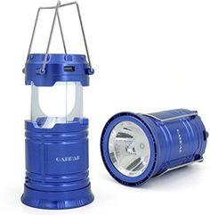 GARMAR Camping Lantern Flashlight, Solar Portable Outdoor LED Lights, Bright…