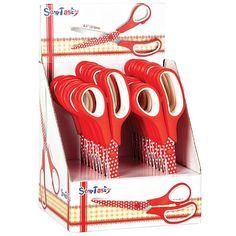 Red  polka dot scissors by DaisyCottageGoods on Etsy