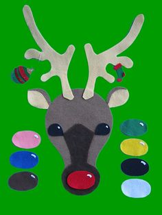 Loons and Quines @ Librarytime: Flannel Friday: Rudolph! Use with color poem. This reindeer is cuter. Preschool Christmas, Christmas Activities, Christmas Themes, Kids Christmas, Preschool Activities, Christmas Crafts, Xmas, Flannel Board Stories, Felt Board Stories
