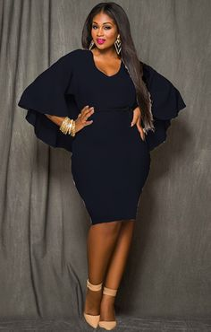 plus size all black bodycon dress with boots - Google Search ...