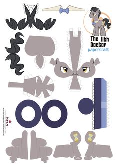 Doctor whoof pony vector by Kna on deviantART My Little Pony Craft, Cumple My Little Pony, My Little Pony Drawing, Paper Doll Craft, Doll Crafts, Paper Toys, Paper Crafts, Crafts For Girls, Diy For Kids