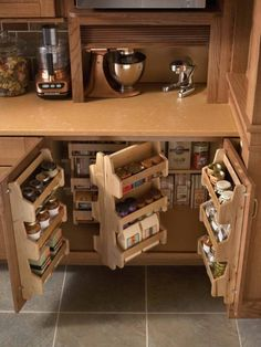 18 DIY Kitchen Organizing And Storage Projects, love this idea to organize spices and flour etc