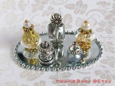 Miniature perfume bottles white by MeanieBaby on Etsy, $8.50