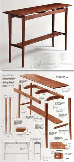 Floating Top Table Plans - Furniture Plans and Projects | WoodArchivist.com