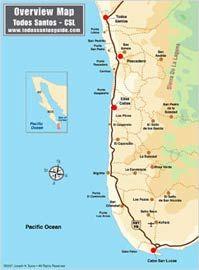 Todos Santos Map