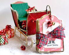 Tutorial de trineo de cartón hecho a mano. Mini álbum scrapbooking de Papá Noel. Ideas Scrapbooking, Diy, Gift Wrapping, Gifts, Card Tutorials, Lead Sled, Papa Noel, Greeting Cards, Mini Albums